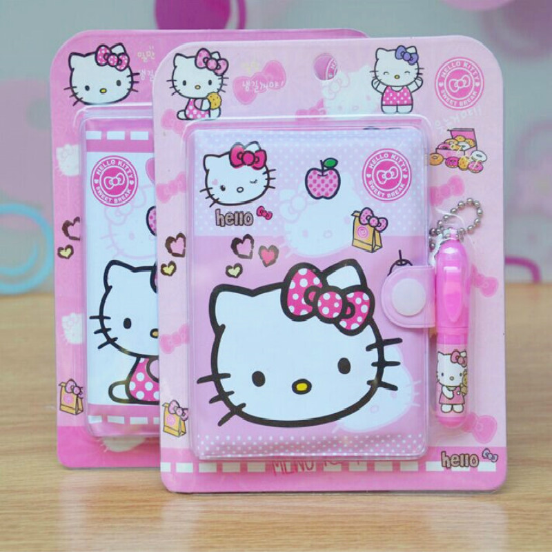 57f2bd76d 12*14.5cm Cute Hello Kitty Notebook with Ballpoint Pen Notepad Diary Book  Exercise Book Escolar Papelaria School Office Supply-in Notebooks from  Office ...