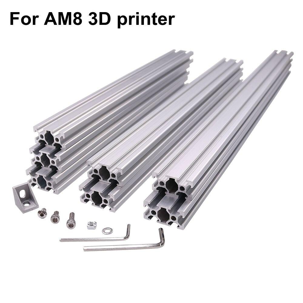 AM8 3D Imprimante Métal En Aluminium Extrusion Profil Cadre avec Noix Vis Support Coin pour Anet A8-14