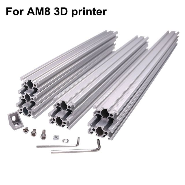 AM8 3D Printer Aluminum Metal Extrusion Profile Frame with Nuts Screw Bracket Corner for Anet A8 14-in Corner Brackets from Home Improvement on ...