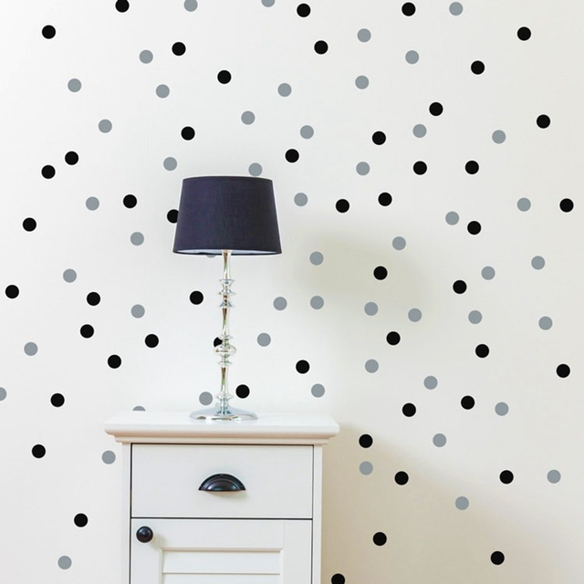 120/70 Pcs Polka Dot Wall Sticker Amovible Sticker Écologique