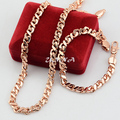 5mm 7mm Set Jewelry  Rose Gold Filled Bracelet Helix Necklace Gold Set Jewelry