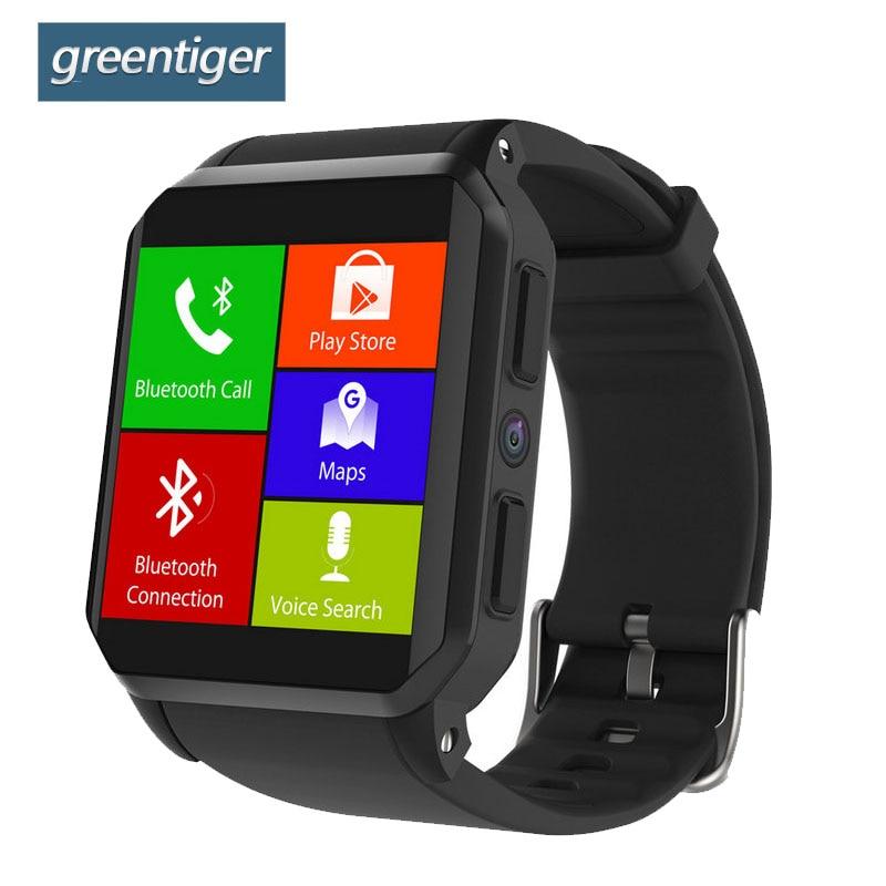 Greentiger KW06 สมาร์ทนาฬิกา IP68 กันน้ำ Heart Rate Monitor บลูทูธซิมการ์ด Android 5.1 512 MB + 8 GB MTK6580 Smartwatch-ใน นาฬิกาข้อมืออัจฉริยะ จาก อุปกรณ์อิเล็กทรอนิกส์ บน AliExpress - 11.11_สิบเอ็ด สิบเอ็ดวันคนโสด 1