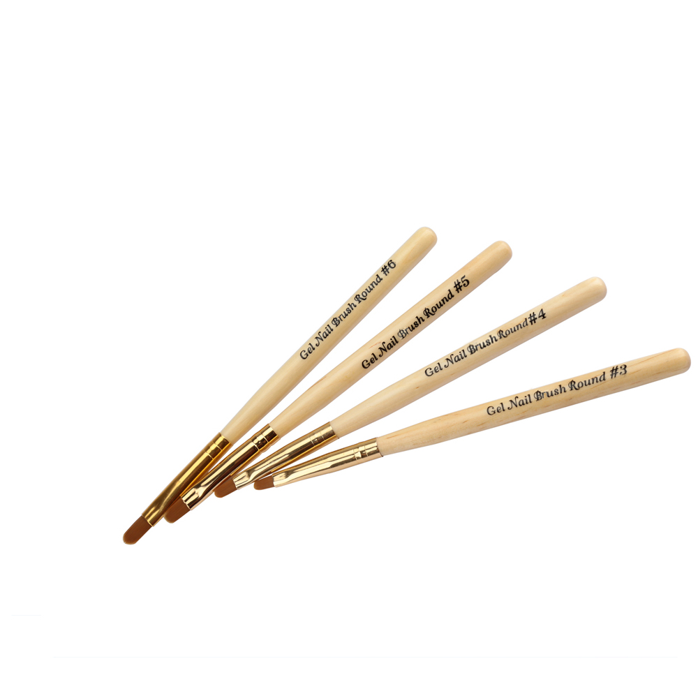 1 Pc BQAN Birch Wood Handle Nylon Bristle Nail Art Brush ...