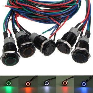 3а 16 мм Открыть ВКЛ-ВЫКЛ спортивный режим светодиодный кнопочный переключатель для BMW/E60 5 серии белый красный оранжевый синий зеленый