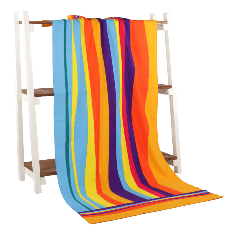 Free shipping bath towel 70 140 Superfine fiber bath towel printing USD EUR stripes Beach girl Beach towels in Towels from Mother Kids