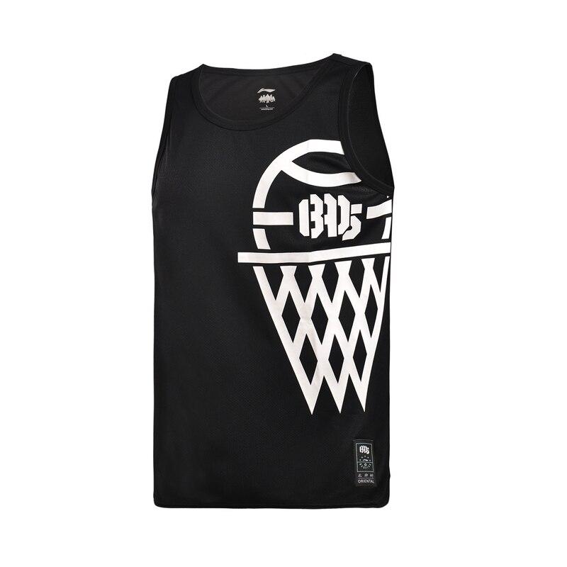 Li-Ning Mens BAD FIVE Basketball Series Jerseys 100% Polyester ATDRY LiNing Sports T-Shirts AAYM015 MBS060