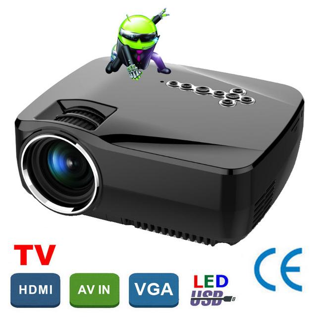Coreia do Big Desconto Android 4.4 WiFi Bluetooth Smart hd projetor Portátil Mini LED projetor LCD home theater Proyector Projetor