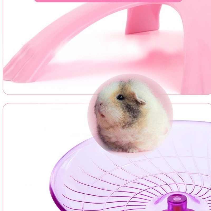 애완 동물 햄스터 비행 접시 운동 휠 햄스터 마우스 실행 디스크 장난감 케이지 액세서리