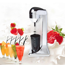 220V Electric Milk Frother Home Food Blender Coffee Mixing Multifunctional Foam Maker Milkshake EU Plug цена