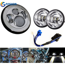 7 Inch Chrome Harley Daymaker LED Headlight with Wiring Harness 2x 4 1 2 Fog Light_220x220 harley wiring wiring harness promotion shop for promotional harley GM Headlight Wiring Harness at eliteediting.co