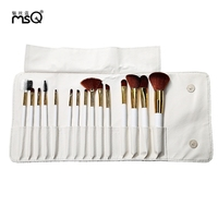 MSQ 15pcs Rome Style Print Makeup Brushes Set Polyamide Hair Cosmetic Tools with Storage Bag