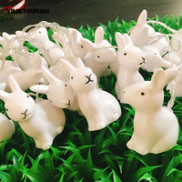 YINGTOUMAN Rabbit Lantern 3m 20LED Christmas Party Lights Decoration Holiday String Lighting Battery Powered Lamp