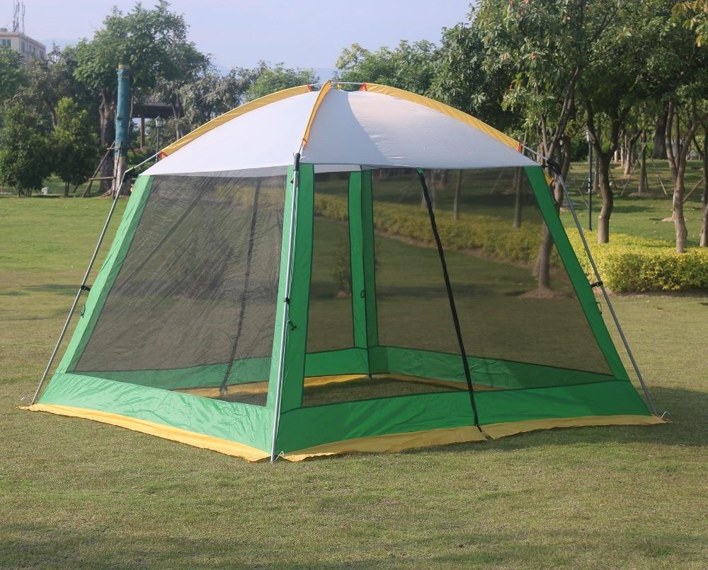 高品質 300*300*210 センチメートル超大 4 8person 家族パーティーガルドンビーチキャンプテントガゼボ太陽の避難所  グループ上の スポーツ & エンターテイメント からの テント の中 1