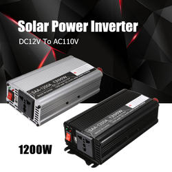 Инвертор 12 В 110 В 2500 Вт пики Авто Модифицированная синусоида Напряжение трансформатор солнечной Мощность преобразователь автомобильная