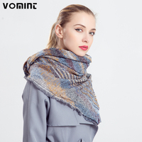 Vomint 2017 New Female Winter Thick Dyed Jacquard Scarf Elegant Staining Super Beautiful Striped Long Wide