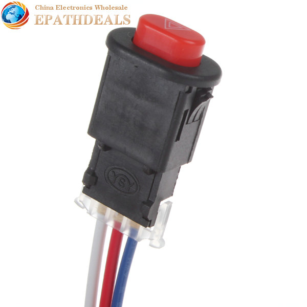 12pcs! Motorcycle Switch Hazard Light Switch Button Double Flash ...