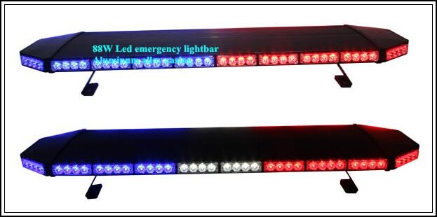 Yüksək ulduz 120cm DC12V 88W amber Led Car xəbərdarlıq lampası, - Avtomobil işıqları - Fotoqrafiya 5