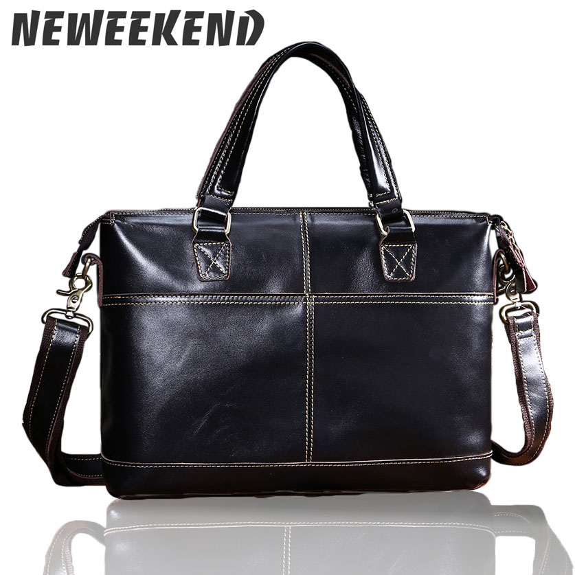 Genuine Leather Bag Casual Men Handbags Cowhide Men Crossbody Bag Men's Travel Bags Laptop Briefcase Bag for Man L-1026
