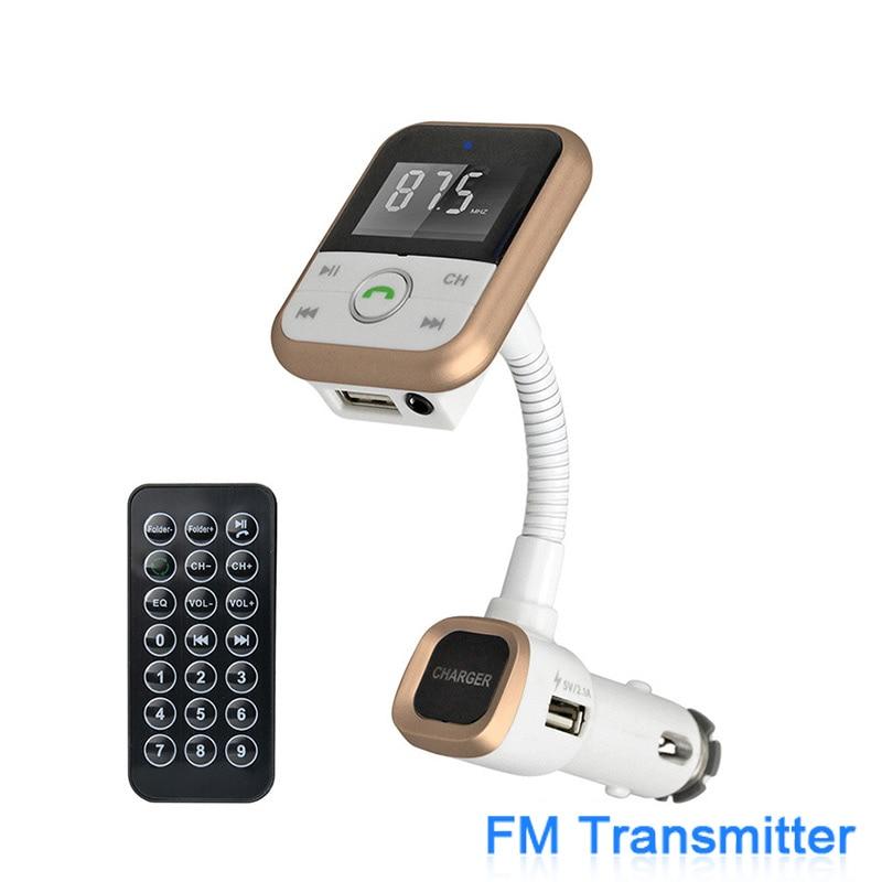 imágenes para Cargador Del Coche Del Teléfono móvil con Manos Libres Bluetooth Kit de Coche FM transmisor de MP3 Del Coche Reproductor de Audio y Bluetooth CSRV4.0 Tarjeta SD 2.1A
