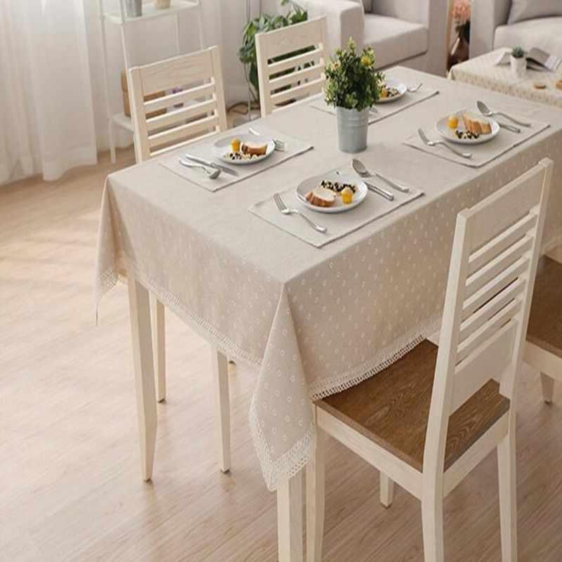 Linnen Katoen Tafelkleed Tafelkleden Moderne Scandinavische Stijl Daisy Bloem Patroon Huis Decoratieve Thee restaurant Tafel dekken