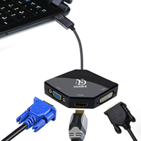 Multi Functi 3 In 1 Displayport To VGA HDMI DVI Adapter Cable