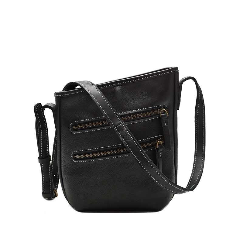High Quality Soft Genuine Leather Men's Casual Handbag Crossbody Messenger Bag Fahion Zipper Sling Bag For Male Man YD8122 casual canvas satchel men sling bag