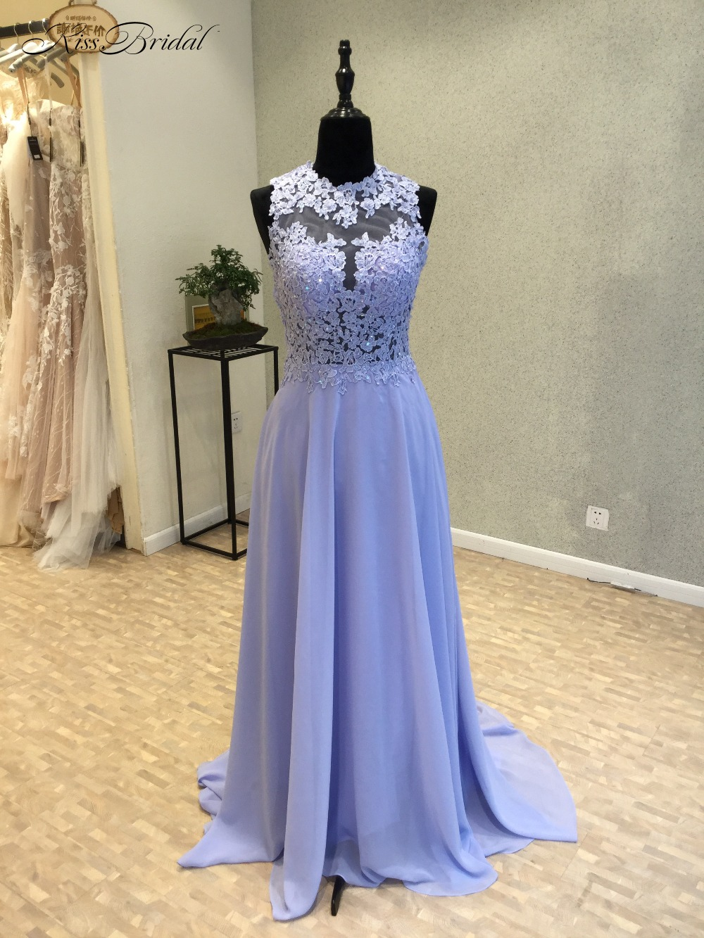 dd840b3afd New Simple Long Prom Dresses 2018 O-Neck Sleeveless Floor Length Lace  Chiffon A-Line Modern Party Dresses Evening Gowns kaftan