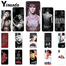 Yinuoda Mgk Machine Gun Kelly Lace Up TPU Soft Silicone Phone Case for Apple iPhone 8 7 6 6S Plus X XS MAX 5 5S SE XR Cases(China)