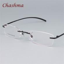 e528695f5c Chashma Brand Prescription Frames Titanium Light Rimless Designer Quality  Frame Mens Spectacles Eyewear Women Frameless Glasses