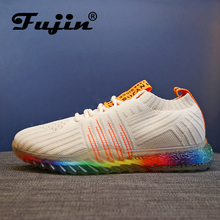 Fujin 2019 Spring Fashion Casual Shoes Dropshipping Student Tide Sneakers Women  Flat 9 Colors Large Size