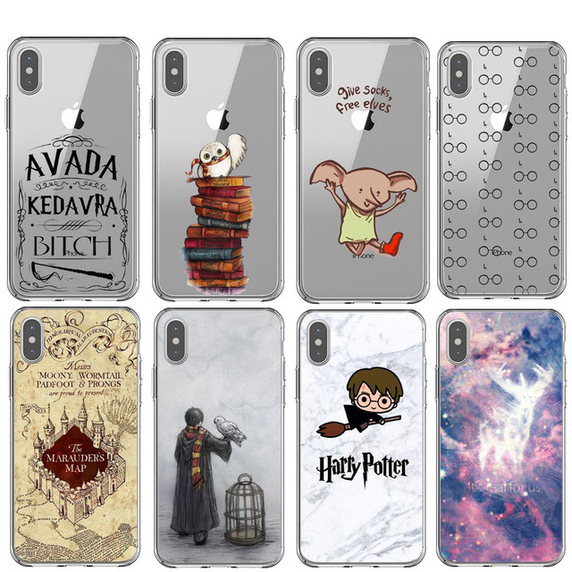 big sale 5f2ae c6228 Harry potter Hedwig hogwarts Phone Case For iPhone XS MAX XR Avada Kedavra  Bitch Silicone Case For iPhone 7 8 6 6sPlus 5 5S SE