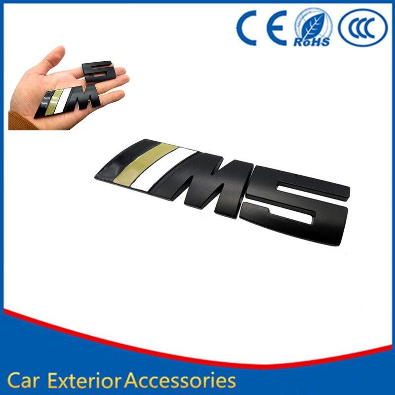 car styling Metal Logo Car Sticker M power Series Logo Emblem Badge Chrom 1 <font><b>3</b></font> <font><b>4</b></font> 5 6 <font><b>7</b></font> E Z <font><b>X</b></font> M2 M3 M4 M5 M6 Mline for BMW M5