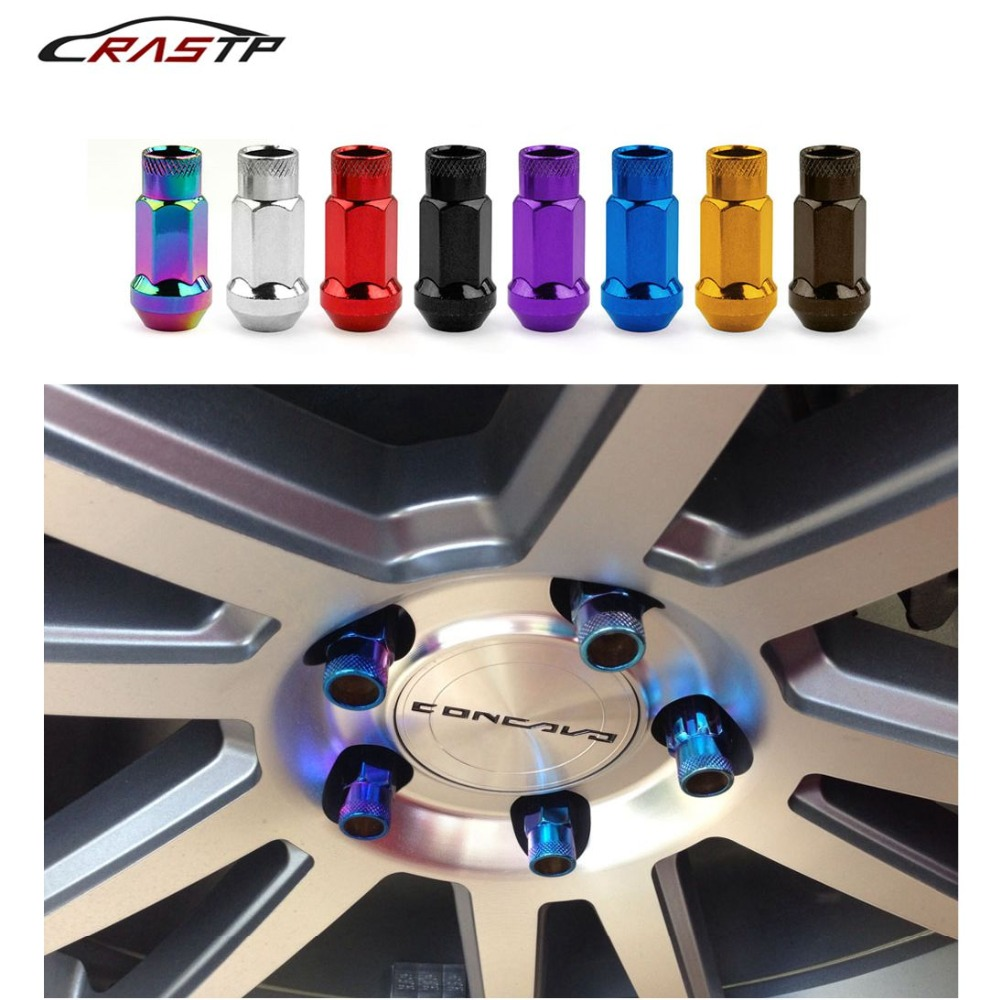 RASTP Muteki Sr48 Wheel Lug Nuts 12X1 5 Acorn Rim Extended Open End 20Pc Have In Stock RS LN031 in Nuts Bolts from Automobiles Motorcycles