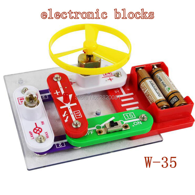 c42c4bcfa Electronic building blocks assembled bricks toy,Kids smart Toys Discovery  Kit Snap circuits educational science
