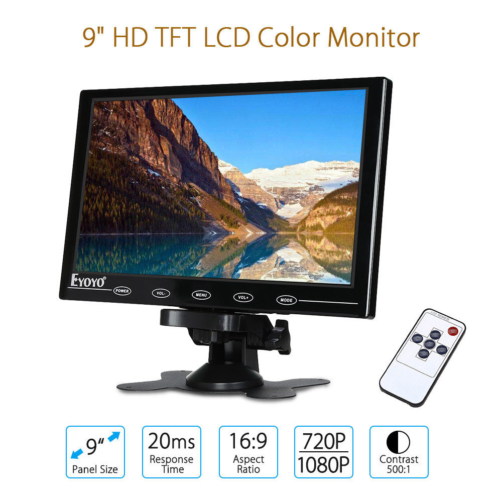 eyoyo 9 mini tft color monitor lcd hd1080p vga ultra. Black Bedroom Furniture Sets. Home Design Ideas