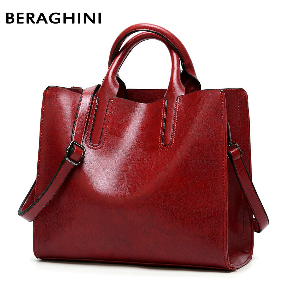 BERAGHINI High Quality Leather Ladies HandBags Women Genuine Shoulder Bags Female Totes Messenger Bags Designer Luxury Brand ...