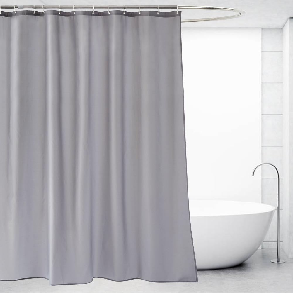 Ufriday Grey Shower Curtain Polyester