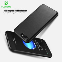 FLOVEME Case For IPhone 6 6s 7 Plus Solid Color Leather Case For IPhone 7 6