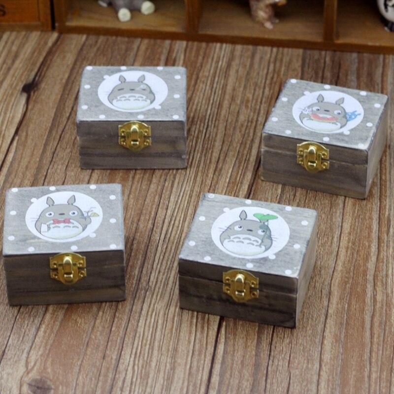 Rotating Chinchillas Wooden Music Box Gift For Chirstmas Happy Birthday New Year Children Craft Decoration Gift