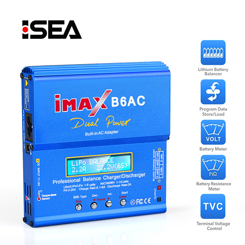HTRC iMAX B6 AC RC Charger 80W 6A Dual Channel Balance Charger Li-ion Nimh Nicd Lipo Battery With Digital LCD Screen DischargerHTRC iMAX B6 AC RC Charger 80W 6A Dual Channel Balance Charger Li-ion Nimh Nicd Lipo Battery With Digital LCD Screen Discharger