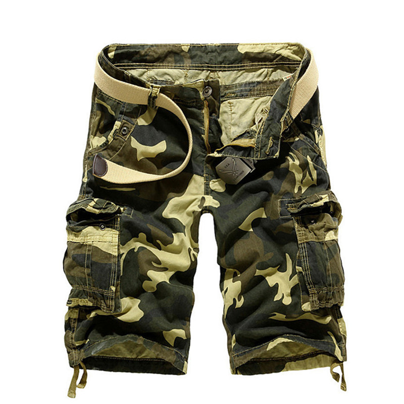 Summer Camouflage Cargo Shorts Men Loose Military Short Trousers Big Pockets Casual Male Casual Cargo Shorts