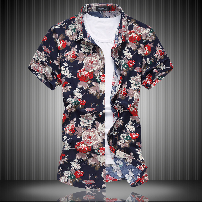 Compare Prices on Red and White Floral Shirt Men- Online Shopping ...