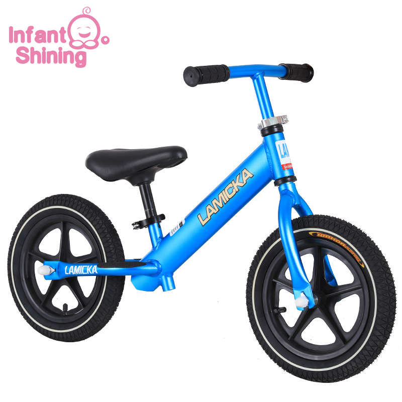 Infant Shining 12 Inch Children's Balance Car Ultra Light Aluminum Alloy 2-3-6 Year Old Baby Sliding Two-wheeled Inflatable