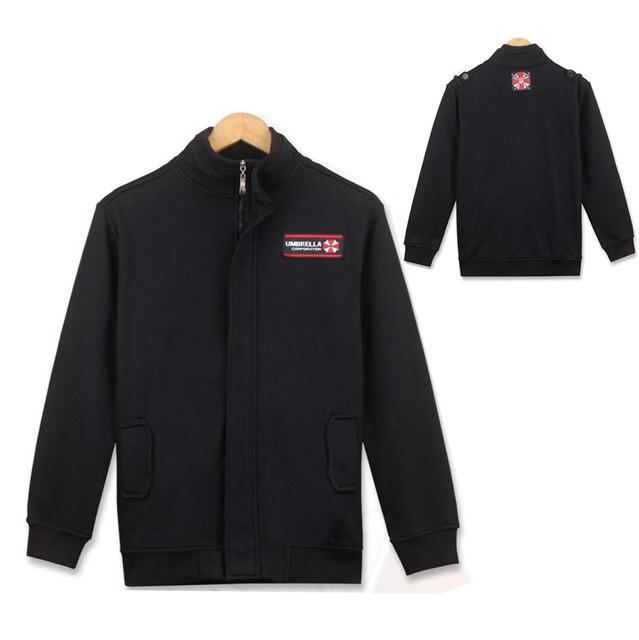 9b11918cc Resident Evil Stand Collar Jacket Cosplay Costume Biohazard Umbrella  Corporation Logo Zipper Outerwear Daily Casual Coat