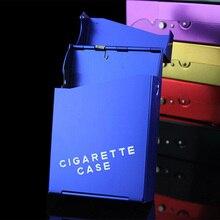 Тонкая модная трубка креативная Личная сигарета чехол тонкий металлический сигаретный чехол сигаретная коробка подарочная коробка