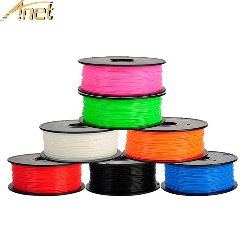 Anet 3D Printer Filament ABS/PLA 1.75mm material 1KG Plastic Rubber for MakerBot/RepRap/UP/Mendel 3d printer pen Parts 5 colors 3d printer filament abs pla 1 75mm with 30 colors for 3d printing pen 3d printer 3d model creation plastic material supplies