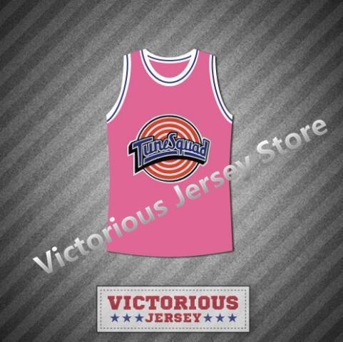 4adb3a2a0e08 Minanser Michael Jordan 23 Space Jam Tune Squad Pink Basketball Jersey  Men-in Basketball Jerseys from Sports   Entertainment on Aliexpress.com