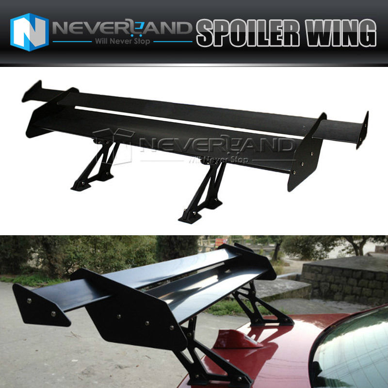 ФОТО Universal 53'' Double Deck Lightweight Car Sedan GT Rear Trunk Wing Racing Spoiler Black D15