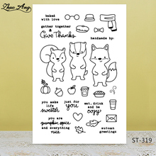 Cute squirrel Transparent silicone Stamp for DIY Scrapbooking/Photo Album Decorative Card Making Clear Stamps Supplies