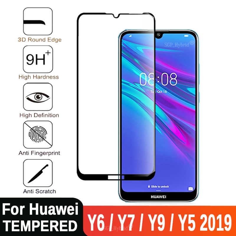 3D For Huawei Y6 2019 Tempered Glass Full Cover Protective Safety Film Screen Protector On Y6 Prime Y7 Pro Y5 Y9 Y 5 6 7 9 2019
